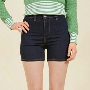 Modcloth Angry Rabbit It's High Time Denim Shorts